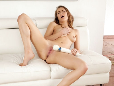 Petite 19 yr old trembles with pleasure