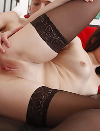 Nasty chick gets her tight asshole fucked hard