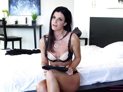 Busty housewife India Summer takes some time after filming to answer viewer questions about her life and sexuality