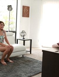 Spinner babe Piper Perri gets Adria Rae naked and enjoying a hot threesome in this Nubiles casting interview