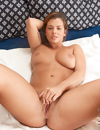 Nubiles.net Keisha Grey - Big tit coed bends over and spreads her soft pussy lips wide open