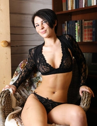 Elegant Cecelia in sexy lingerie looks so appetising and fascinating