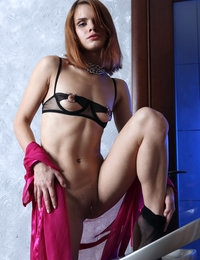 Eccentric Gerda looks magnificent with her lean body and perky nipples