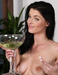 Piss play and drinking for stunning babe
