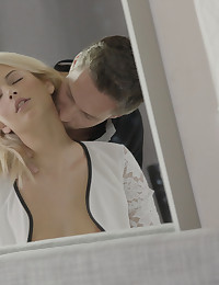 New X-Art Girl Ria Sun brightens any room she enters -- especially when a lucky guy gets to enter her!   This European blonde babe with the delicate features and killer body likes to be blind-folded during sexy foreplay. She loves the sensation of her partner's tongue on her full lips down there, the pleasure of being finger-fucked, a blind blow job, and the feel of a large cock inside her young pussy when she is soaking, dripping wet.