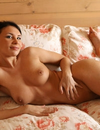 Sweet Cecelia with big boobs reveals her pussy craving for sex