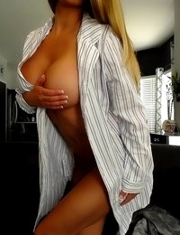 Layla Lynn gets naked in a white shirt
