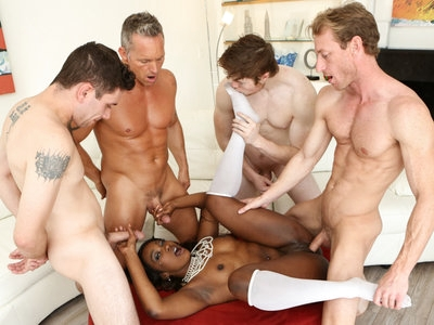 Skyler get so horny seeing all the white cock around her