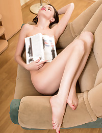 Nubiles.net Jemma - Sexy brunette gets horny and tickles her tiny clit