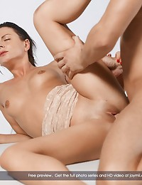 """Stacey is what you could call a natural horny gal. She loves sex and there are a few things she needs every now and then. Stacey loves to be in the submissive role and she loves huge cocks. Of course we did our best to """"assist"""" her and found a way where Stacey gets what she needs. When she entered the room her heart beat went faster and you could see it in her eyes how much she was looking forward to be in a position with no chance to escape but only to get fucked really hard by Lutro's huge hard cock. She goes crazy when she sucks Lutro and when Lutro sticks it all in...log into the members area and see the full sex scene in Full HD!! Enjoy!!"""