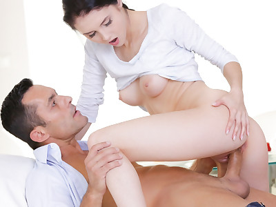 Crystal and Renato bypass breakfast for some pussy and dick