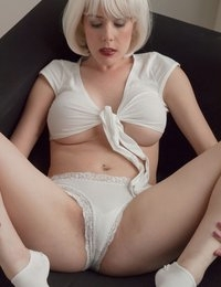 Today, more teasing with white panties, courtesy of Heather from L.A.