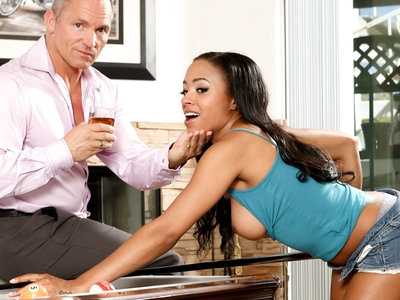 Ebony Anya Ivy rides stepdad Marcus London's white schlong