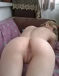 Skinny girlfriend shows her tight perfectly shaved pussy to her boyfriend as he takes pictures to share